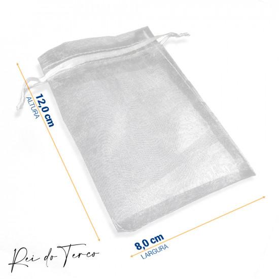 Saquinho de Organza (Pacote c/ 10un) Branco