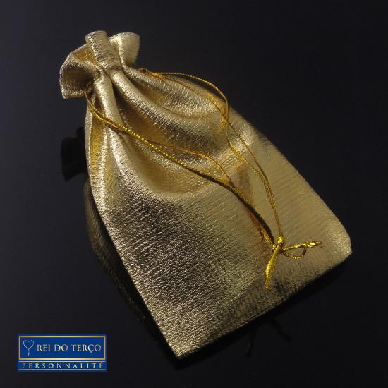 Saquinho de Organza Dourado Brilhante