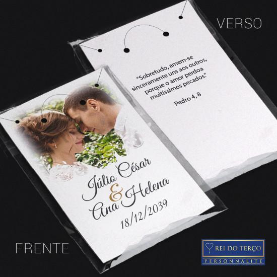 Cartela Saquinho 6x9cm Lembrancinha de Casamento Foto do Casal